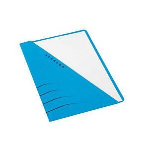 Jalema Secolor chemises à poche carton 270g bleu - paquet de 100