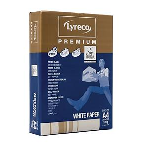 Lyreco Premium White A4 Paper 100gsm - Box of 5 Reams (5 X 500 Sheets of Paper)