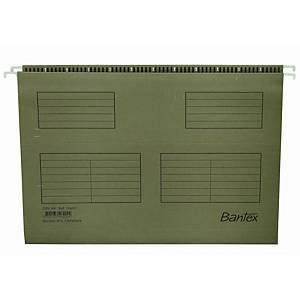 Hængemappe Bantex, A4, V-bund, grøn, pakke a 25 stk.