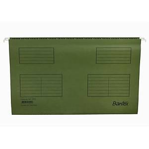 Hængemappe Bantex, A4, Folio, grøn, pakke a 25 stk.