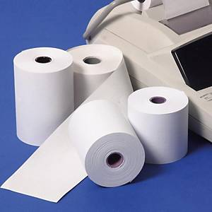 กระดาษม้วนเครื่องคิดเลขแบบความร้อน 57 มิลลิเมตร x 45 เมตร 1 แพ็ค บรรจุ 5 ม้วน