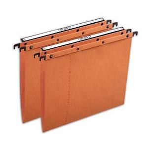 Elba AZO Ultimate Suspension Files Foolscap Orange V Base Heavy Duty - Box of 25