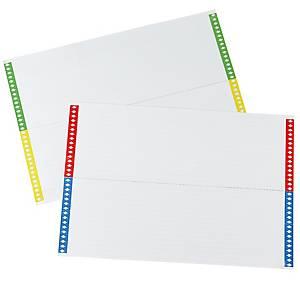 Etichette per cartelle sospese cassetto - conf. 10 fogli x 25