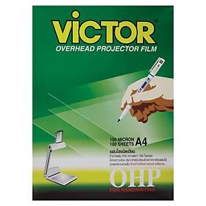 VICTOR แผ่นใสสำหรับเขียน100MA4 100 แผ่น