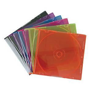 กล่องใส่แผ่นซีดีแบบบาง คละสี 1 กล่อง บรรจุ 10 แผ่น