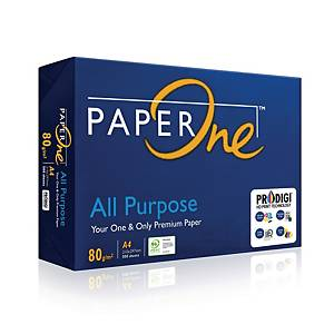 PaperOne A4 All Purpose Paper 80gsm - Box of 5 Reams (5 X 500 Sheets)