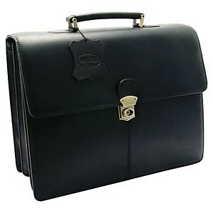 MONOLITH LEATHER BUSINESS BAG BLACK