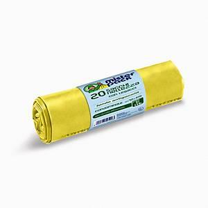 Sacchi spazzatura Mistersack 110 L giallo - rotolo 20