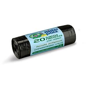 Sacchi spazzatura Mistersack 110 L nero - rotolo 20