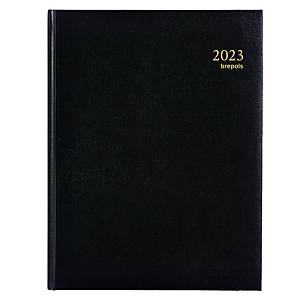 Brepols Timing 137 bureau-agenda met Lima omslag, zwart