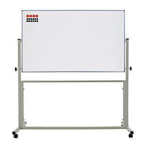 APEX 2 SIDED MAGNETIC WHEEL WHITEBOARD 80 X 120CM