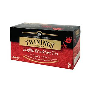 TWININGS English Breakfast Tea Bags - Box of 25