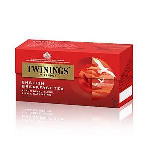 TWININGS 川寧 英國早餐茶包(信封裝) - 25包裝