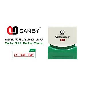 SANBY P-A2 Self Inking Stamp   A/C PAYEE ONLY   English Language - Red