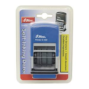 Shiny S-400 Self-Inking Dater Stamp Blue 4mm