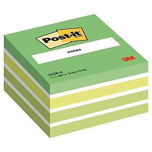 3M Post-it® 2028 Samolepiace bločky v kocke 76x76mm, zelené, bal. 450 líst