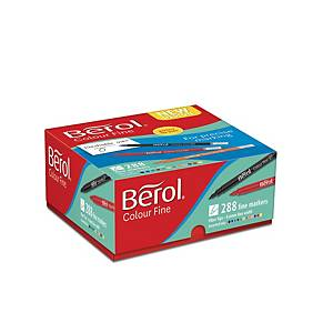 Berol Felt Tip Colouring Markers Fine Asst - Box Of 288