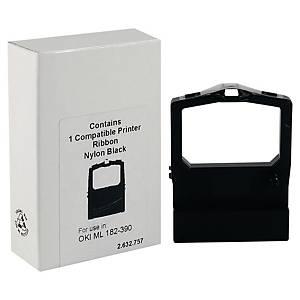 Ruban compatible équivalent Oki 182 universal et Oki 390 - noir