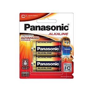 PANASONICถ่านอัลคาไลน์LR14T/2B1.5 โวลต์2 ก้อน