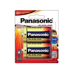 PANASONIC LR20T/2B ALKALINE MAX BATTERIES PACK OF 2