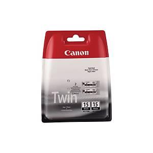 Canon BCI-15Bk Original Inkjet Cartridge - Black - Pack of 2