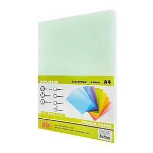 SB กระดาษถ่ายเอกสารสี NO.2A4 80 แกรม เขียวอ่อน 1 รีม บรรจุ 500 แผ่น