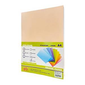 SB กระดาษถ่ายเอกสารสีNO.4 A4 80 แกรมโอรส 1 รีม บรรจุ 500แผ่น