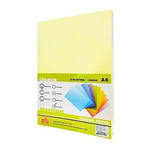 SB กระดาษถ่ายเอกสารสี NO.6A4 80 แกรม เหลือง 1 รีม บรรจุ 500แผ่น