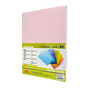 SB COLOURED COPY PAPER A4 80G - PINK - REAM OF 500 SHEETS