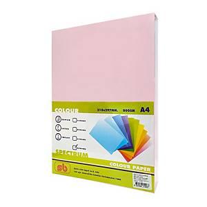 SB กระดาษถ่ายเอกสารสี NO.8A4 80 แกรมชมพู 1 รีม บรรจุ 500แผ่น
