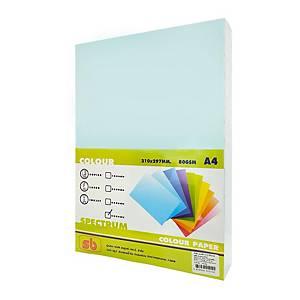 SB กระดาษถ่ายเอกสารสี NO.12 A4 80 แกรม น้ำทะเล 1 รีม บรรจุ 500แผ่น