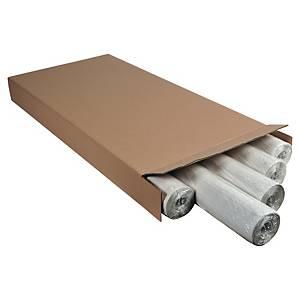 Lyreco Tableau de papier 60 g, damier (25 mm), 65 x 98 cm - paquet de 5 rouleaux