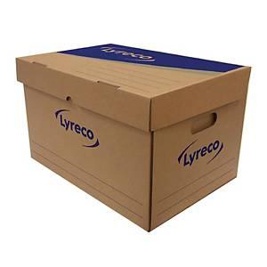 LYRECO PAPER STORAGE BOX 46X32X28CM - PACK OF 2