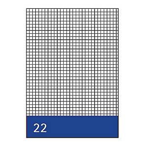 Kanzleipapier, holzfrei, A3/A4, kariert, 250 Blatt