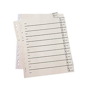 Trennblätter A4, Register Tabe zum Ausschneiden, chamois, 100 Stück