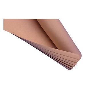 กระดาษคราฟท์ห่อพัสดุ 35 x 47 นิ้ว แพ็ค 10 แผ่น สีน้ำตาล