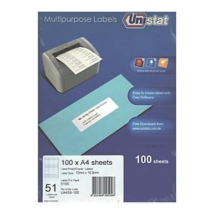 Unistat 多用途標籤 U4459 70 x 16.9毫米 每張51個標籤