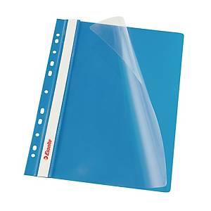 Závesný prezentačný rýchloviazač Esselte, A4, modrý, balenie 10 kusov