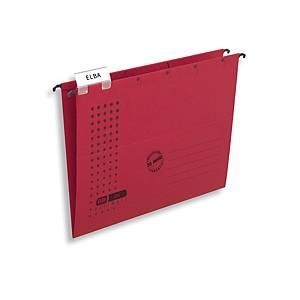 Elba  V  típusú függőmappa, piros, 25 darab/csomag