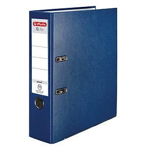 Pákový zakladač Herlitz Q.file, poloplastový, šírka chrbta 8 cm, modrý