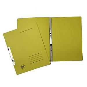 Závěsné 1/1 rychlovazače Hit Office classic - žluté, 50 ks