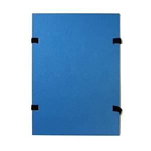 Irományfedél, lakkozott karton, kék A4, 25 darab/csomag