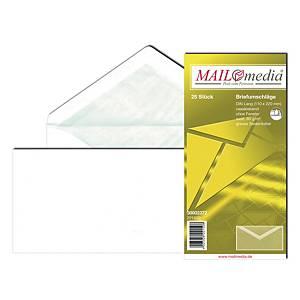 Briefumschläge Blessof 30002372 DIN lang 110x220mm ohne Fenster NK weiß 25St