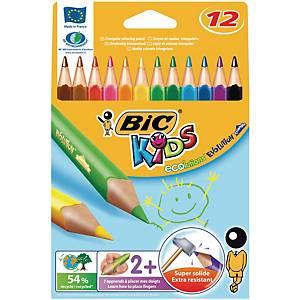 Bic Kids Evolution Triangle crayons couleur assorti - la boîte de 12