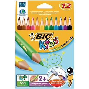 Bic® Kids Evolution driehoekige kleurpotloden, pak van 12 potloden