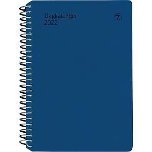Kalendere 7.Sans Dagkalender Avtalebok spiralisert plastomslag blå
