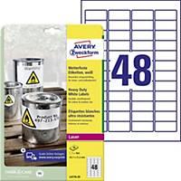 Avery Zweckform ellenálló címke, poliészter, fehér, 45,7 x 21,2 mm