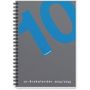 Kalender Mayland 1470 00, 10-års, 2020-29, A5, plast, grå