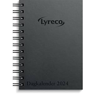 Kalender Lyreco, dag, 2020, 11,7 x 17 cm, pap, spiralryg, sort