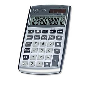 Calculatrice de poche Citizen CPC112 basic+, gris argenté, 12 chiffres